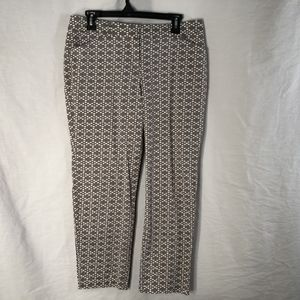 New Directions 10 Pants Gray Print 830
